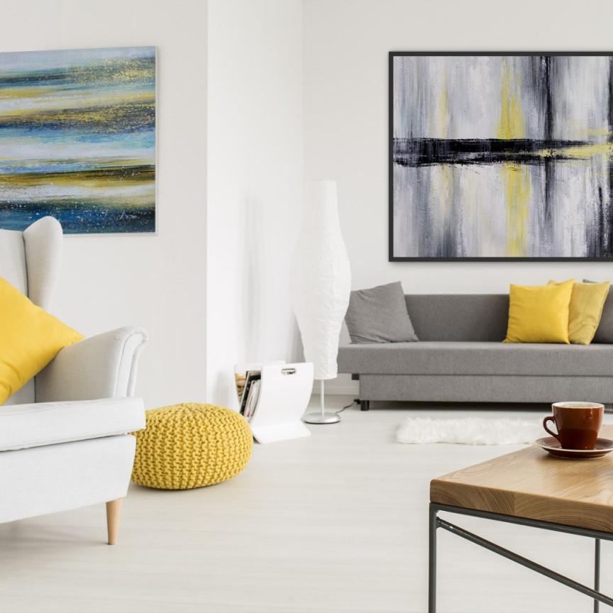 Handgemalte Xxl Gemälde In Öl  Modern  Xxl Wallart von Moderne Gemälde Wohnzimmer Photo