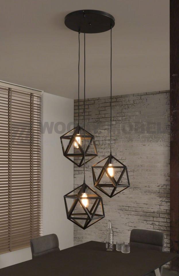 Hängelampe Mit Drei Designwürfeln Zijlstra Nl Schwarz Metall von Wohnzimmer Lampe Schwarz Photo
