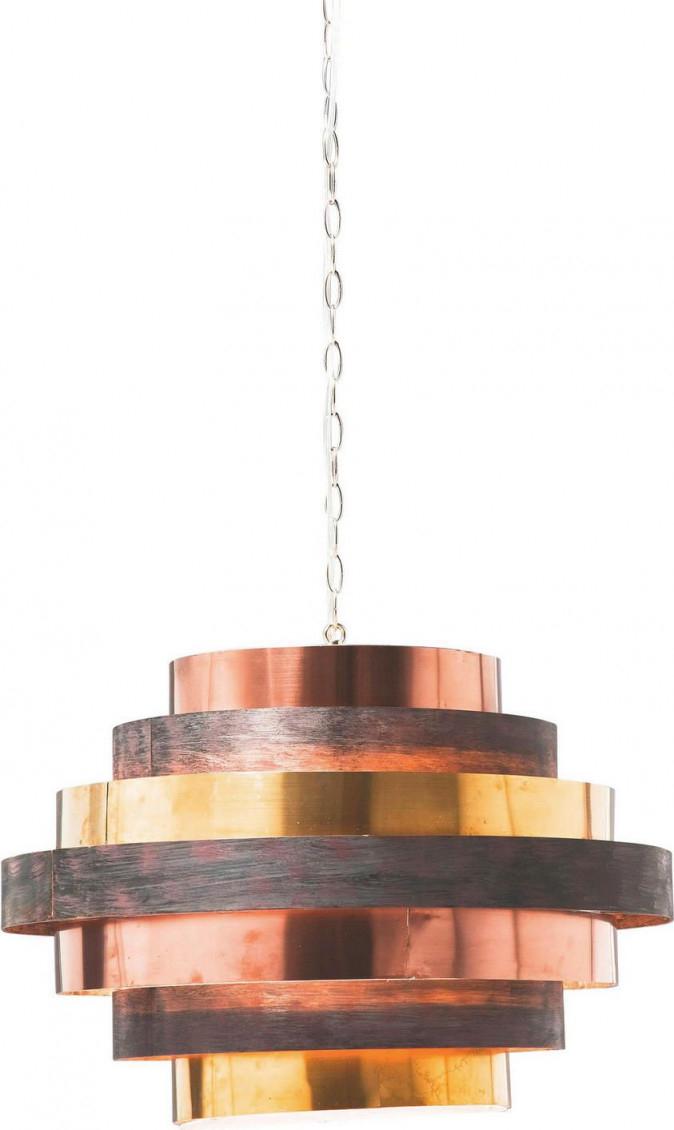 Hängeleuchte Aus Stahl In Kupfer Und Messingfarben  Lampen von Wohnzimmer Lampe Xxl Lutz Bild