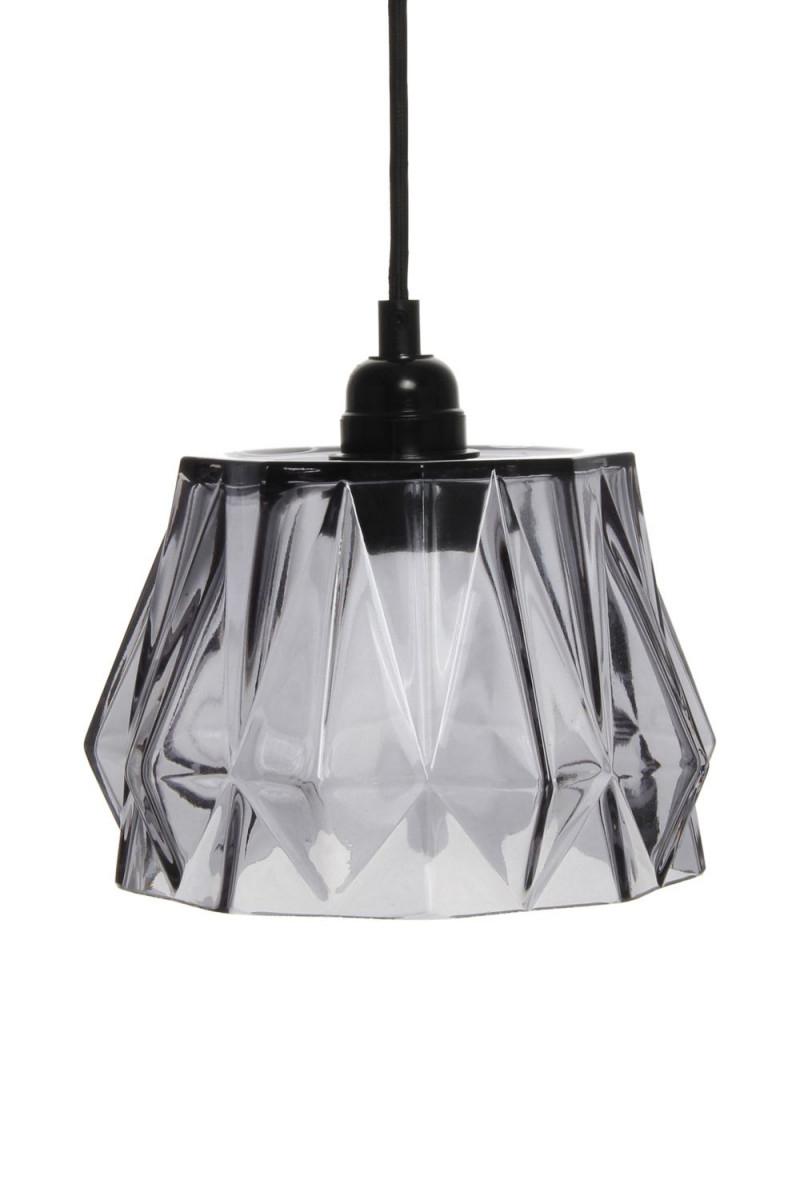 Hängeleuchte Modern Glas Lampe Hängelampe Esszimmer Wohnzimmer Grau von Wohnzimmer Lampe Grau Bild