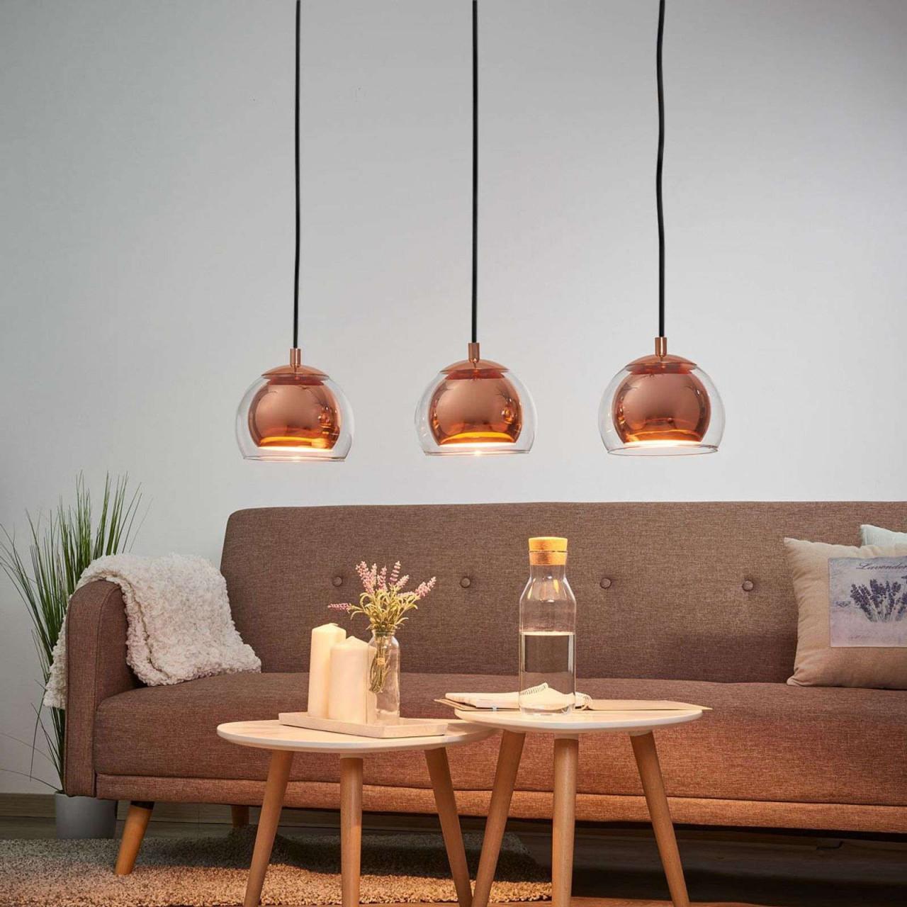 Hängeleuchte Rocamar 3Flammig In Kupfer  Lampen von Wohnzimmer Lampe Kupfer Bild