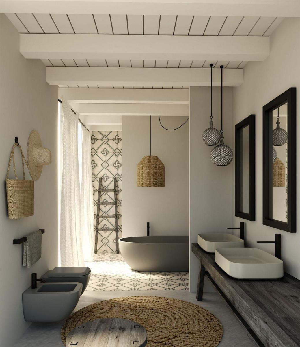 Hängendtoilette  Aus Keramik Shui Comfort  Pomice von Hängende Deko Wohnzimmer Bild