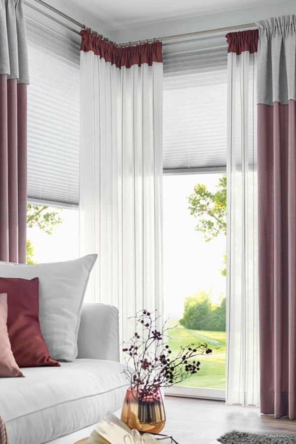 Harmonische Gardine Für Ihr Wohnzimmer  Gardinen Wohnzimmer von Gardinen Wohnzimmer Trend Bild