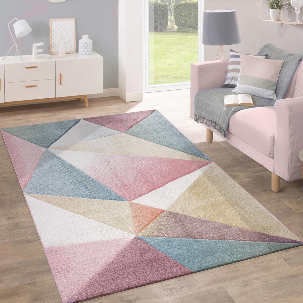 Hashtag Home Teppich May In Rosablau  Bewertungen  Wayfair von Wohnzimmer Teppich Grau Rosa Bild