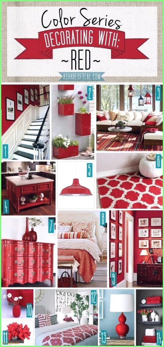 Haus Dekoration  Farbserie; Dekorieren Mit Rot Rote von Wohnzimmer Deko Rot Bild