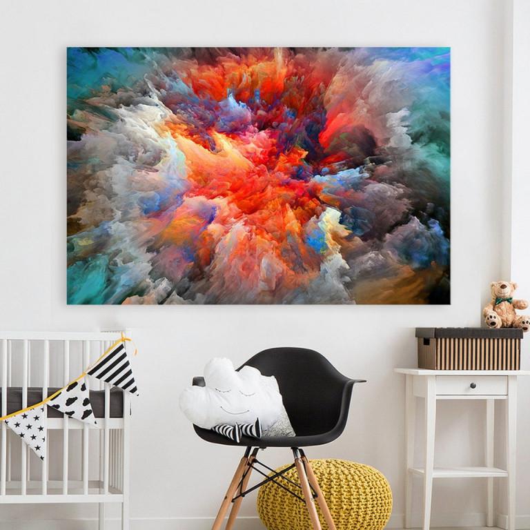 Hdartisan Moderne Abstrakte Leinwand Kunst Malerei Bunte Wolken Wand Bilder  Für Wohnzimmer Wohnkultur Rahmenlose von Bilder Moderne Kunst Wohnzimmer Photo