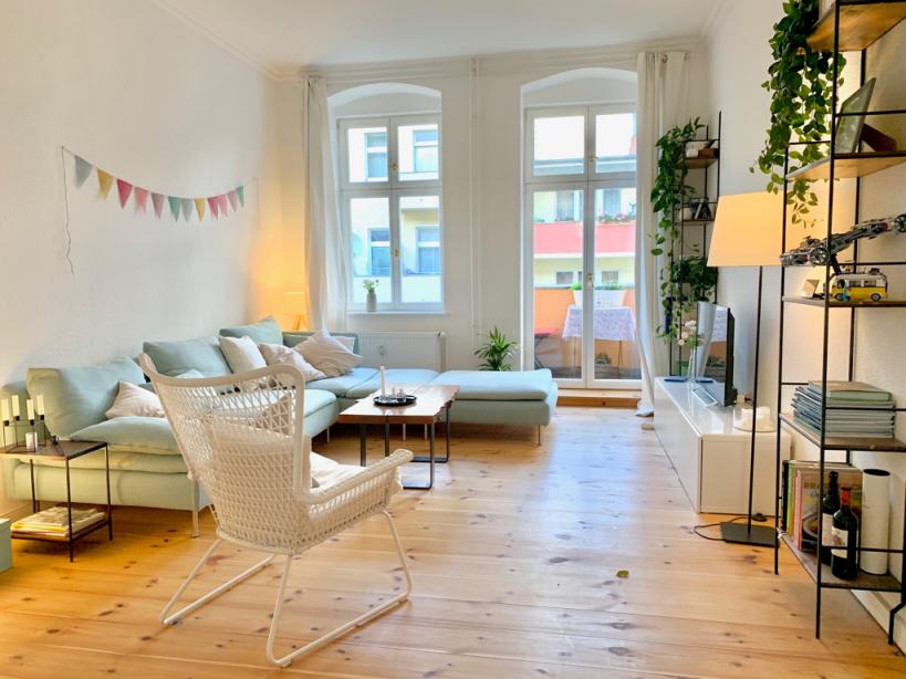Helles Großes Wohnzimmer  Altbau Wohnzimmer Wohnzimmer von Wohnzimmer Ideen Altbau Photo