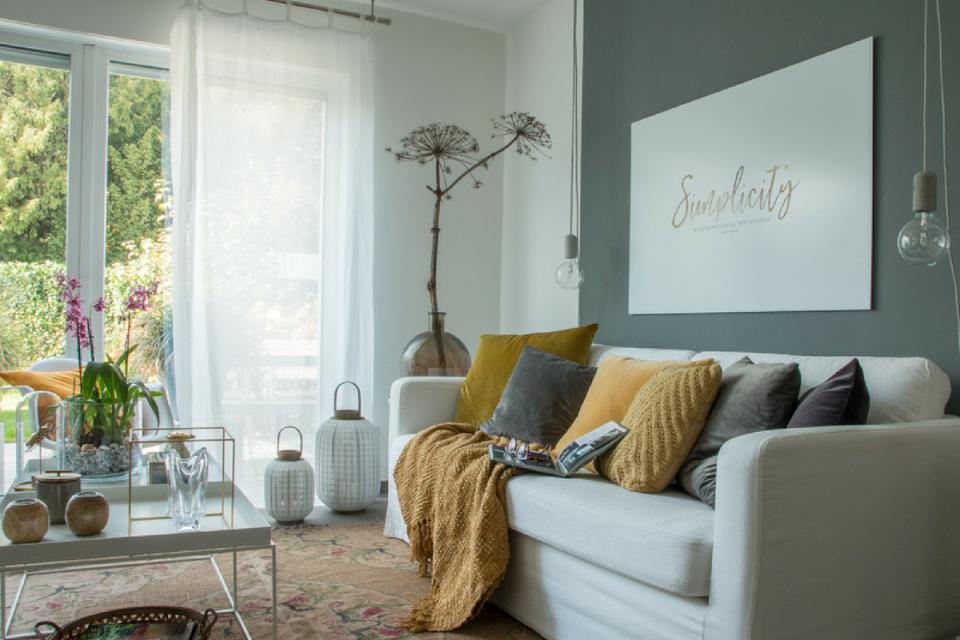 Herbstliche Deko Im Wohnzimmer  Raumkrönung  Wohnberatung von Wohnzimmer Dekorieren Bilder Photo