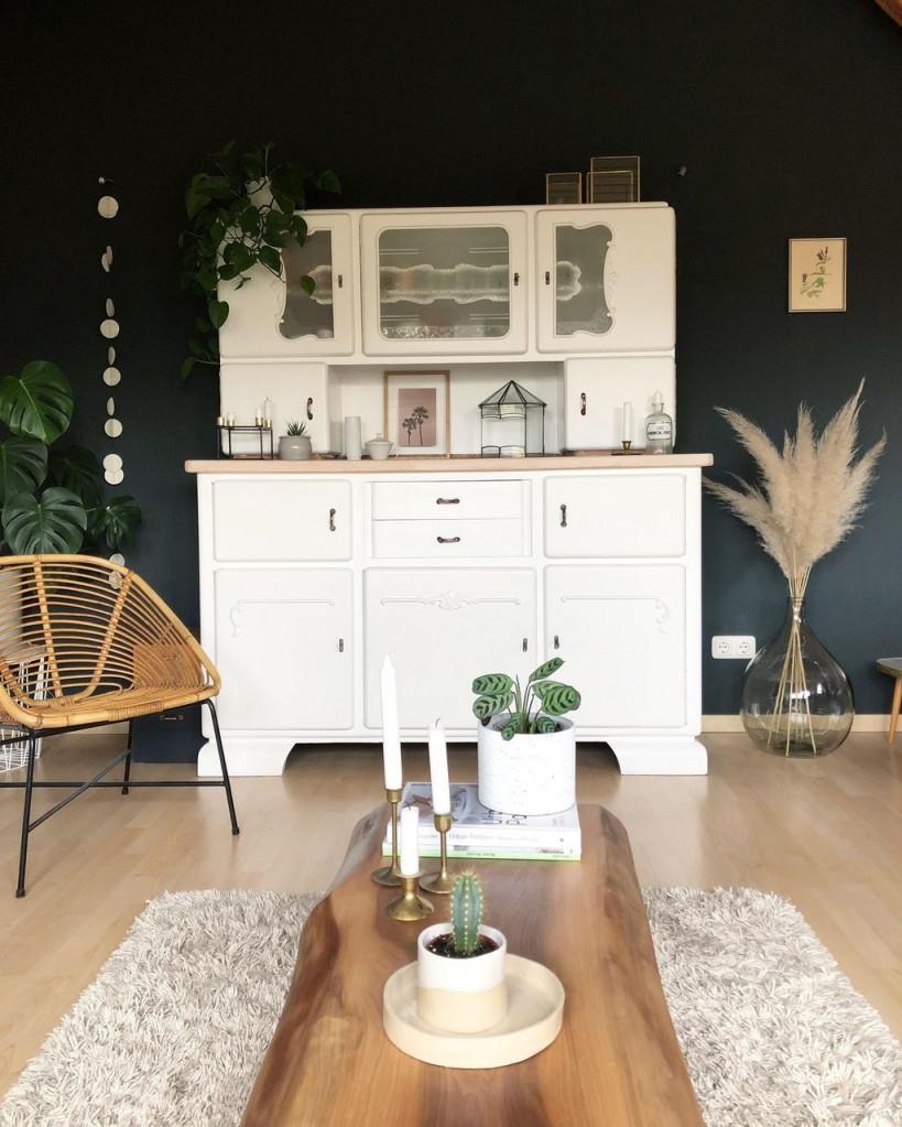Herbststimmung 🌿 Livingroom Vintage Plants Pa von Wohnzimmer Deko Vintage Bild