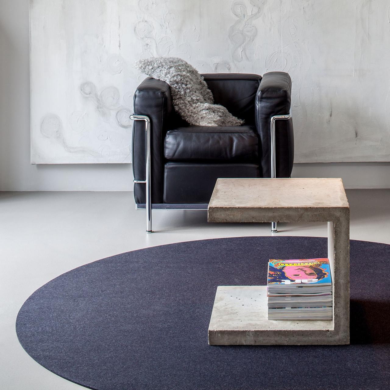 Hey Sign Filzteppich Bigdot Teppich Rund Verschiedene Größen Und Farben   Trendeshop von Wohnzimmer Teppich Rund Photo