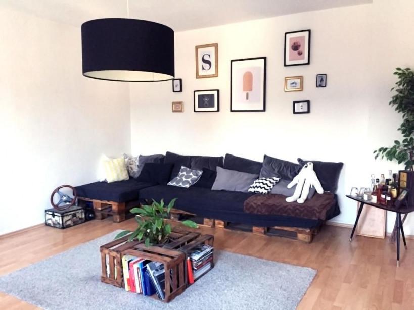 Hier Besteht Das Komplette Wohnzimmermobiliar Aus Diy von Sitzecke Ideen Wohnzimmer Bild