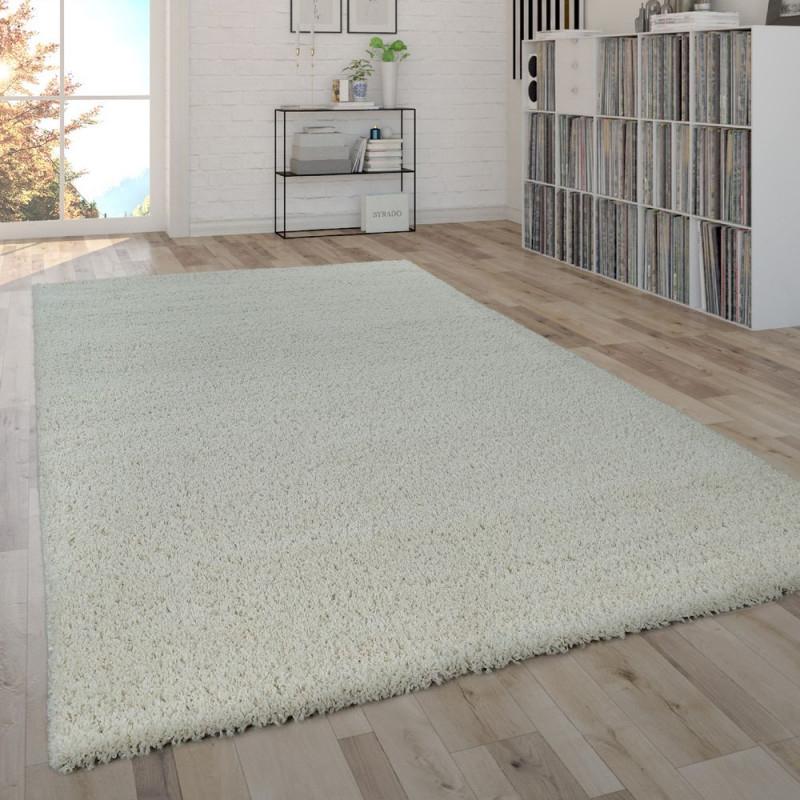 Hochflor Shaggy Teppich Uni Creme Flauschig von Wohnzimmer Teppich Hochflor Photo