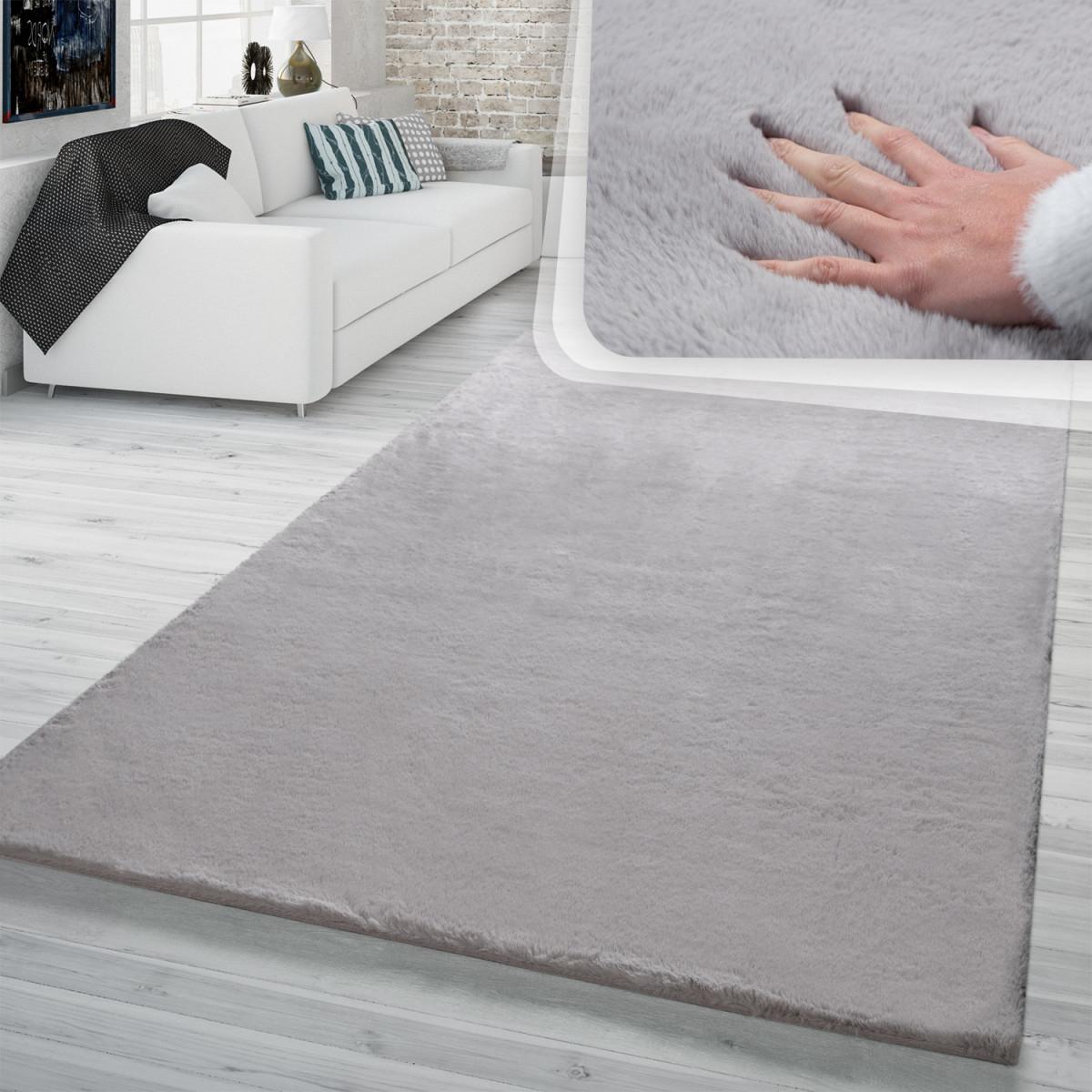 Hochflor Teppich Wohnzimmer Kunstfell Super Softes Kaninchenfell Imitat von Teppich Für Wohnzimmer Bild