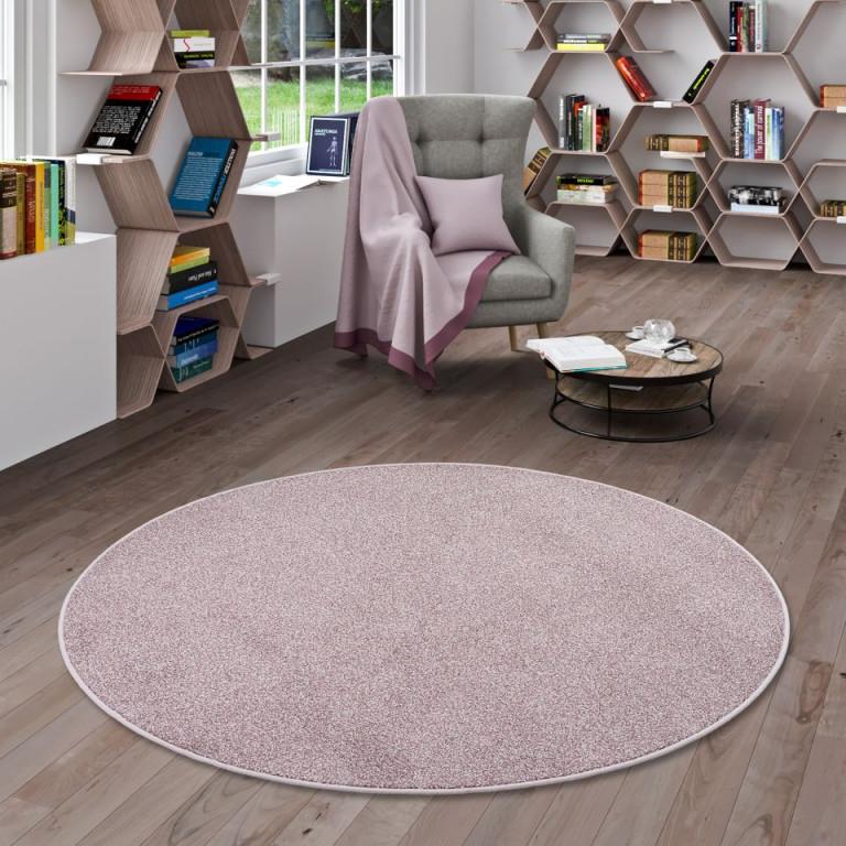 Hochflor Velours Teppich Luna Mix Altrosa Rund Größe100 Cm Rund von Wohnzimmer Teppich Altrosa Photo