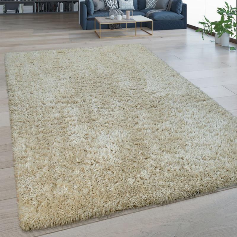 Hochflor Wohnzimmer Teppich Waschbar Shaggy Optik von Pflegeleichter Teppich Wohnzimmer Bild