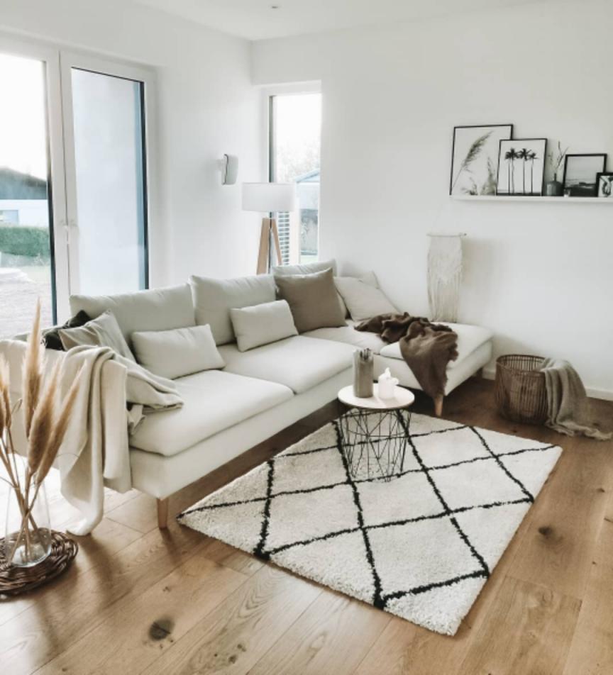 Hochflorteppich Gobi Cream In 2020  Haus Deko Weißes von Weisser Teppich Wohnzimmer Photo