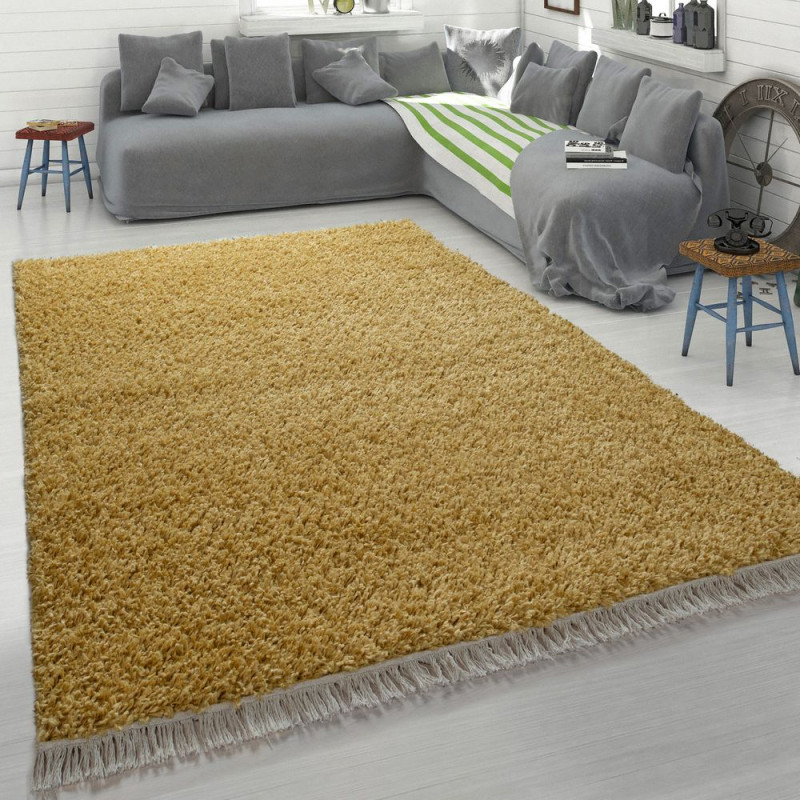 Hochflorteppich Weich Shaggy Beige von Flauschiger Teppich Wohnzimmer Photo