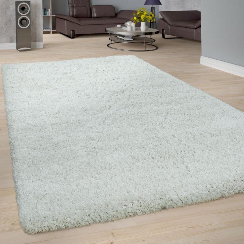 Hochflorteppich Wohnzimmer Shaggy von Teppich Wohnzimmer Weiß Bild
