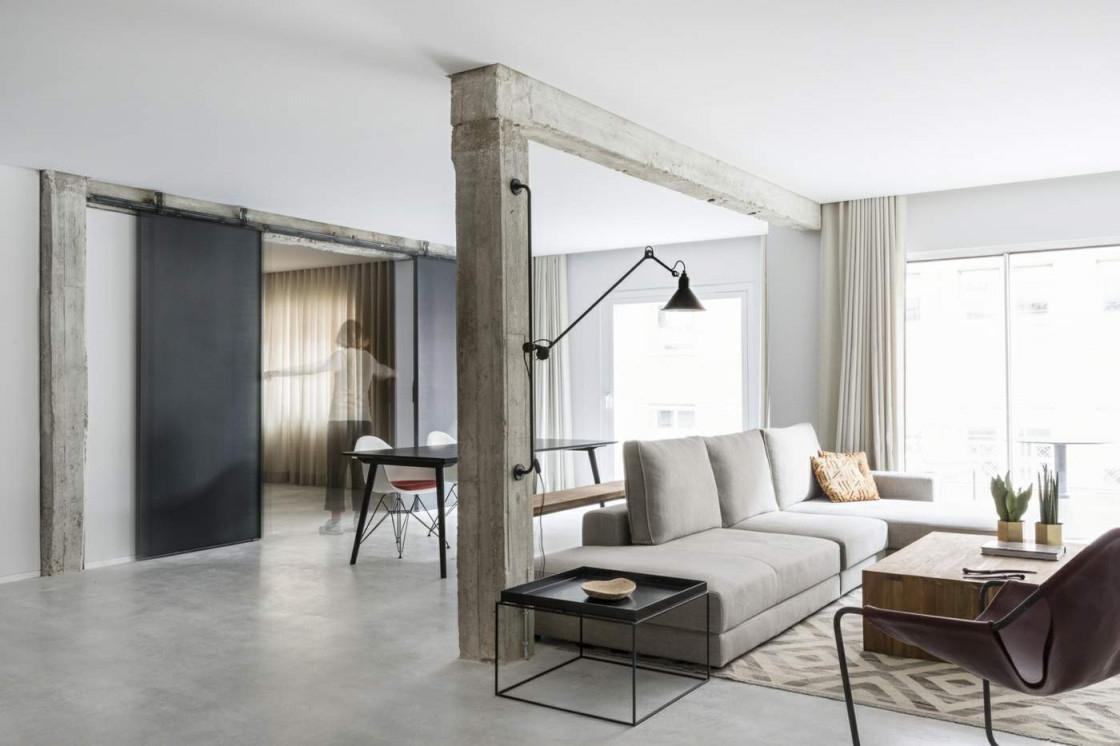 Holz Trennwand Zum Falten Für Privatsphäre Im Offenen von Moderne Trennwände Wohnzimmer Photo