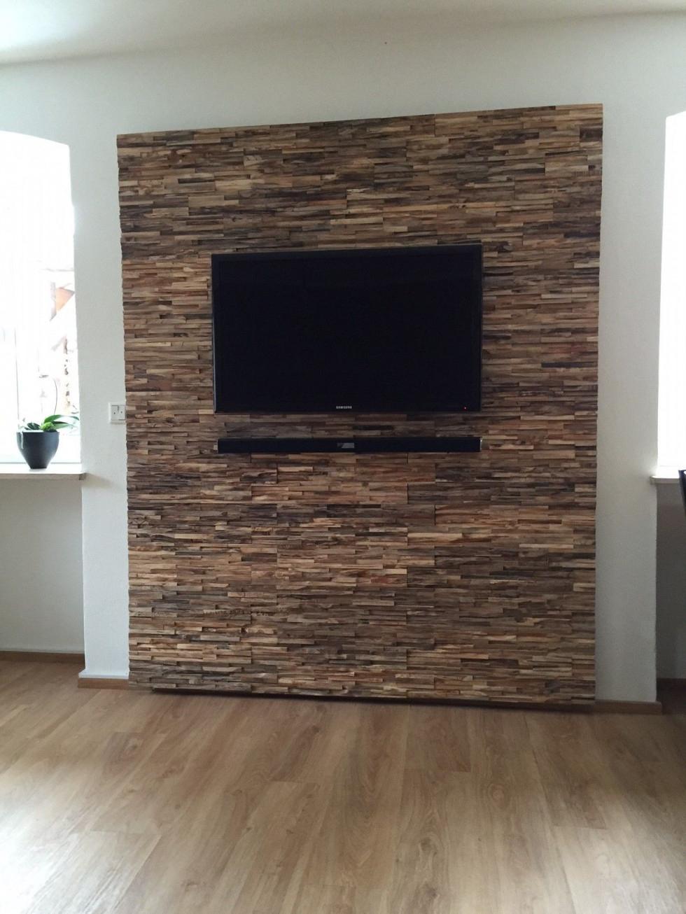 Holz Wandverkleidung  Wandverkleidung Wandverkleidung von Wohnzimmer Mit Holz Gestalten Photo