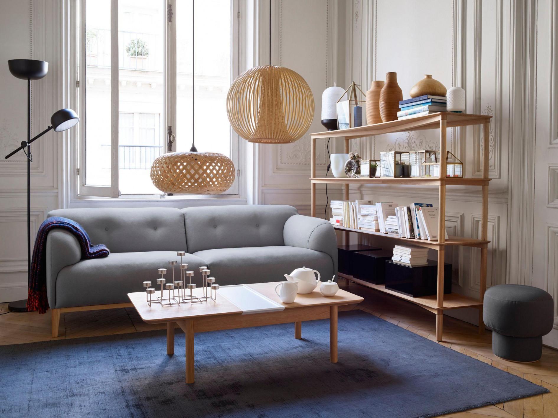 Holzlampe • Bilder  Ideen • Couch von Holz Lampe Wohnzimmer Bild