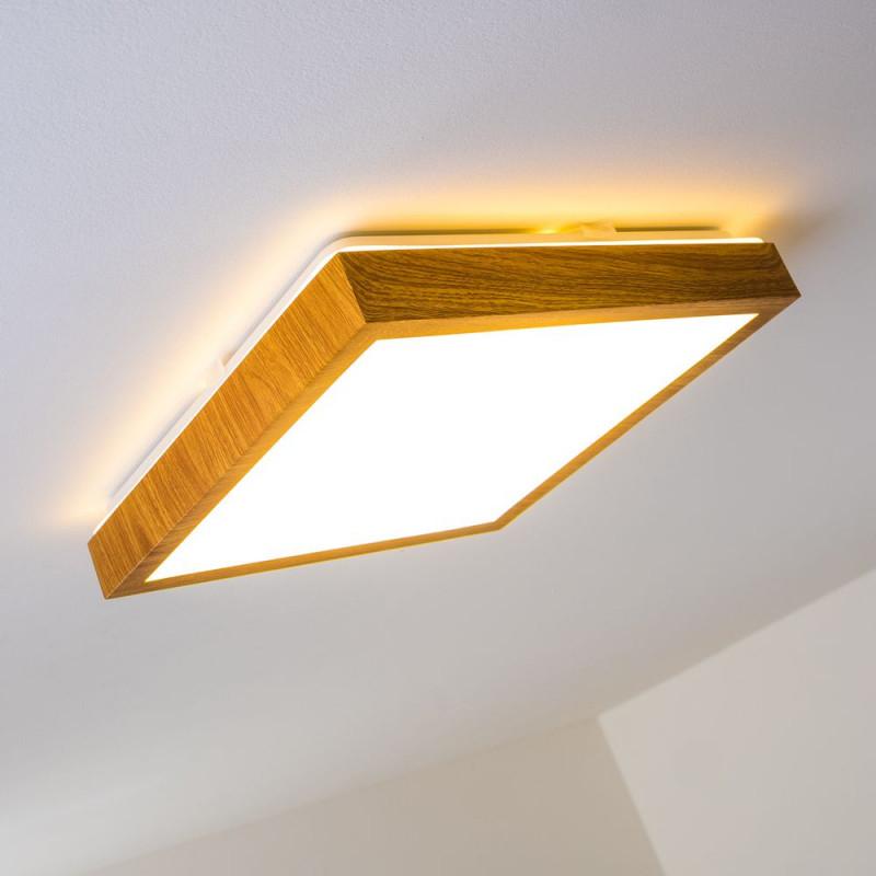 Holzlampen Die Schönsten Lampen Aus Holz  Lampe Magazin von Wohnzimmer Deckenlampe Holz Bild