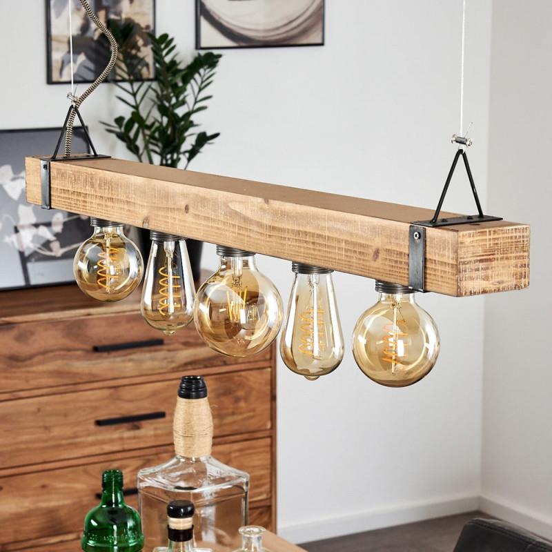 Holzlampen Die Schönsten Lampen Aus Holz  Lampe Magazin von Wohnzimmer Lampe Holzbalken Bild