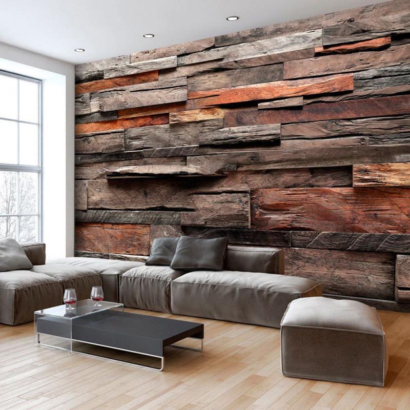 Holzoptik Bretter Holzeffekt Fototapete Vlies Tapete Xxl von Tapeten Vlies Wohnzimmer Bild