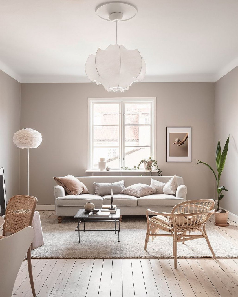 Home In Soft Beige Beige Home Huiskamerkleuren In 2020 von Deko Beige Wohnzimmer Bild