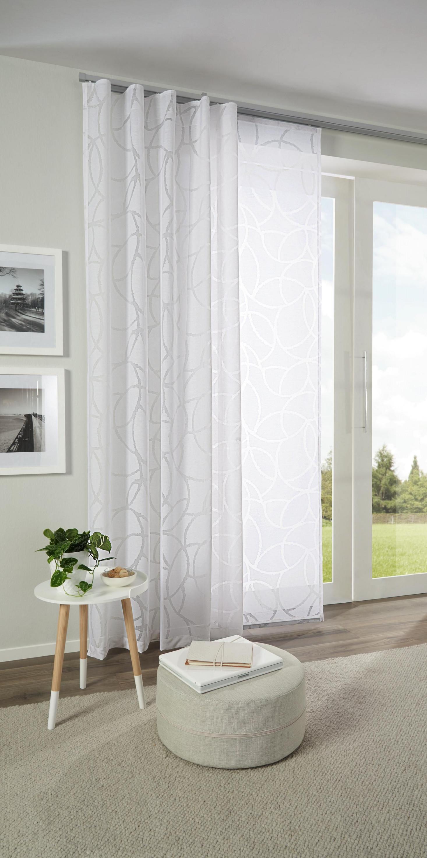 Hübscher Vorhang Mit Zartem Muster In Weiß Von Esposa von Gardinen Wohnzimmer Modern Weiß Bild
