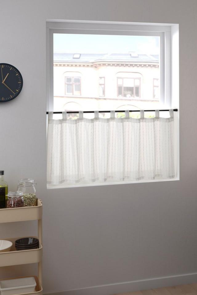 Idamarie Gardine Aus Durchscheinendem Material Weiss von Halbe Gardinen Wohnzimmer Photo