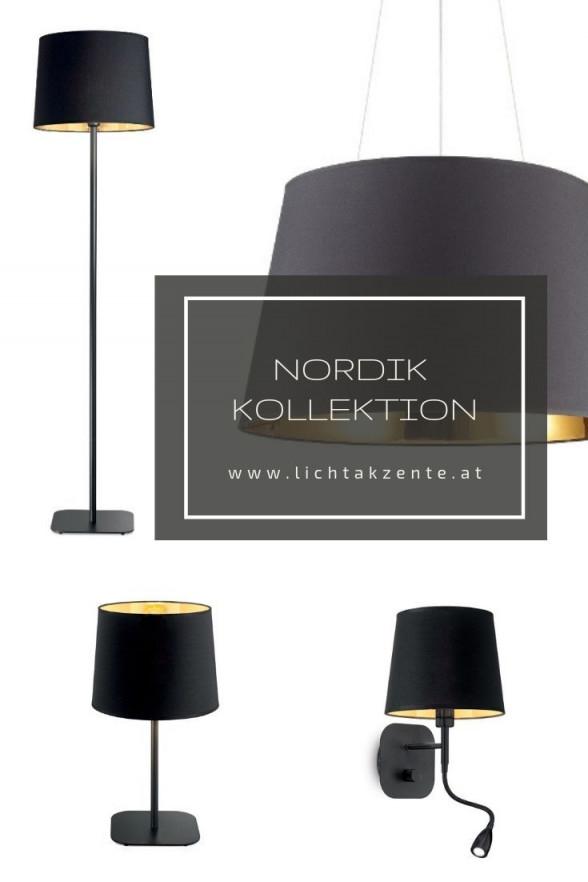 Ideal Lux Pendellampe Nordik Schwarz Gold  Moderne Lampen von Wohnzimmer Lampe Schwarz Bild