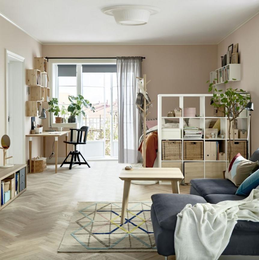 Ideen  Ikea Möbel Wohnung Einrichten Kleine Wohnung von 20M2 Wohnzimmer Einrichten Bild