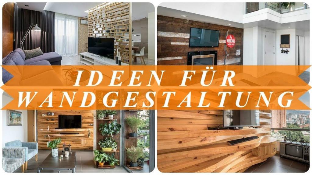 Ideen Moderne Wandgestaltung Wohnzimmer  Youtube  Living von Gestaltung Wohnzimmer Ideen Bild