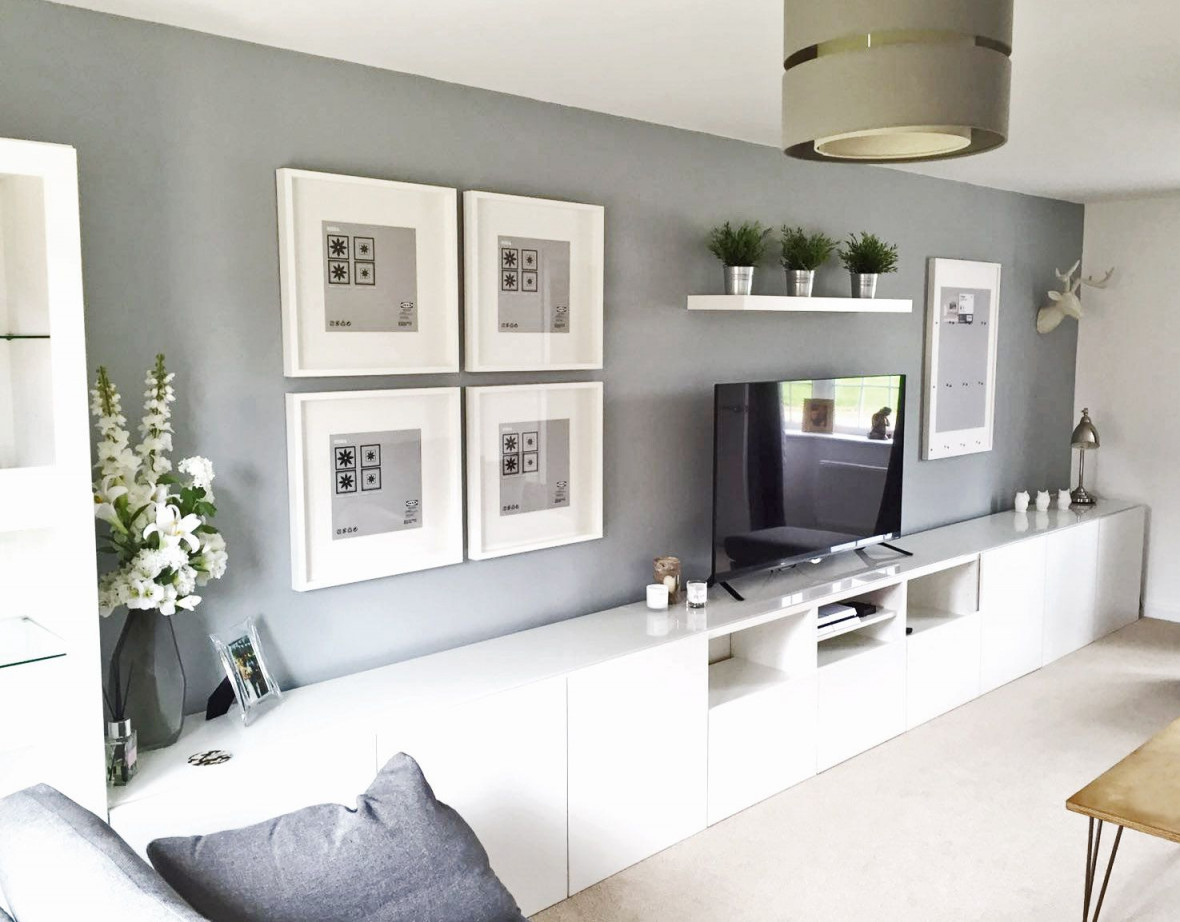 Ikea Bestå Living Room Tv Unit Picture Frames Ribba von Besta Wohnzimmer Ideen Bild