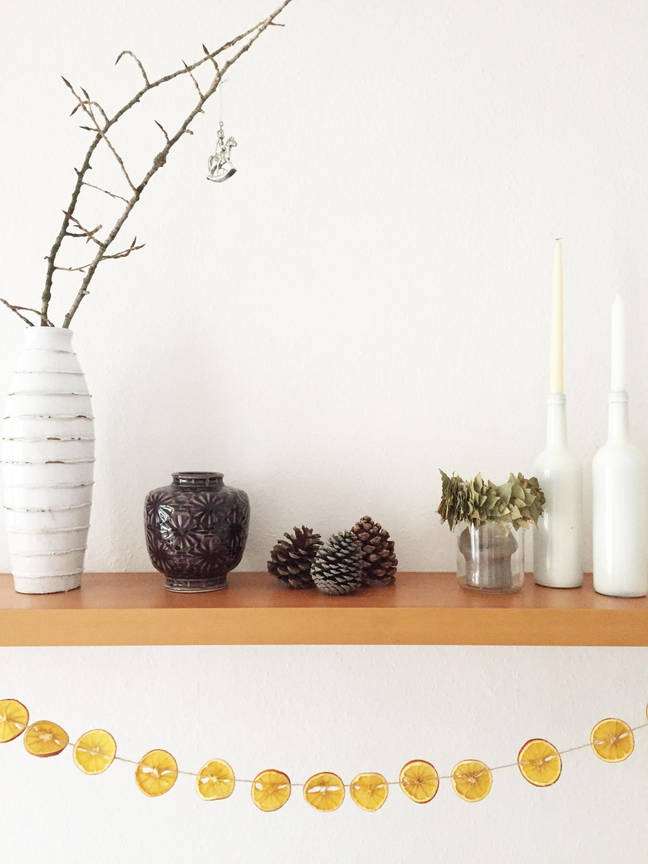 Im Dekofieber Weihnachtsdeko Orangen Girlande von Deko Girlande Wohnzimmer Bild