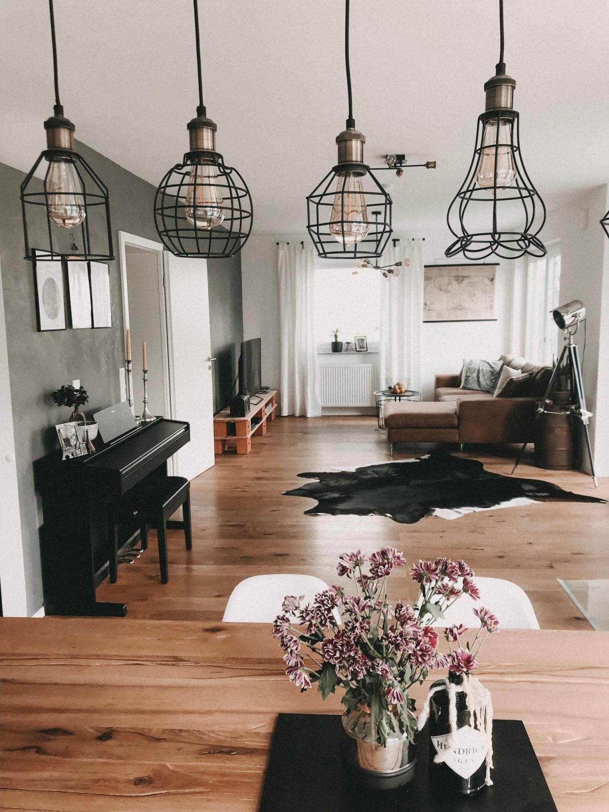 Industrial Interior Livingroom Inspiration Vint von Wohnzimmer Lampe Industrial Bild