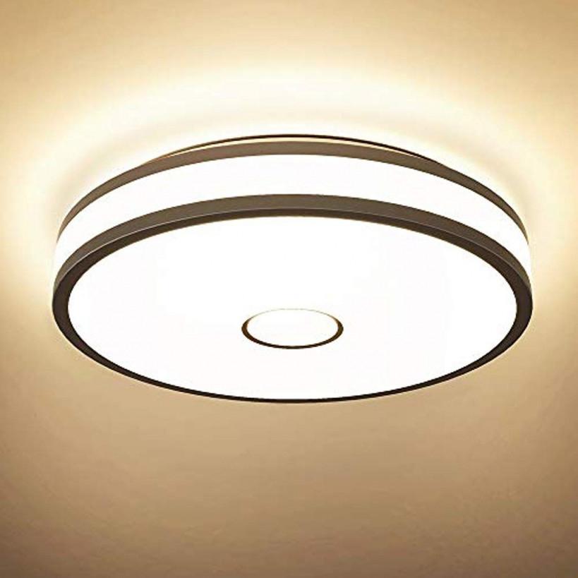 Innenbeleuchtung Küche Haushalt  Wohnen Öuesen 40W 3600Lm von Led Deckenleuchte Wohnzimmer Modern Photo