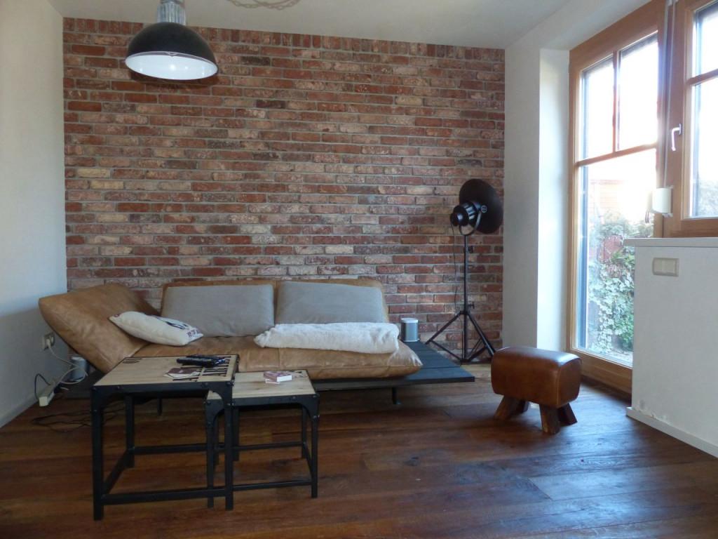 Innenwandmitsteinverblendern  Riemchenwerk von Wohnzimmer Mit Steinwand Gestalten Photo