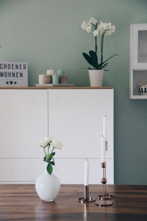 Innenziele Mit Rose Gold  Kupfer Mint Green Home von Mint Deko Wohnzimmer Photo