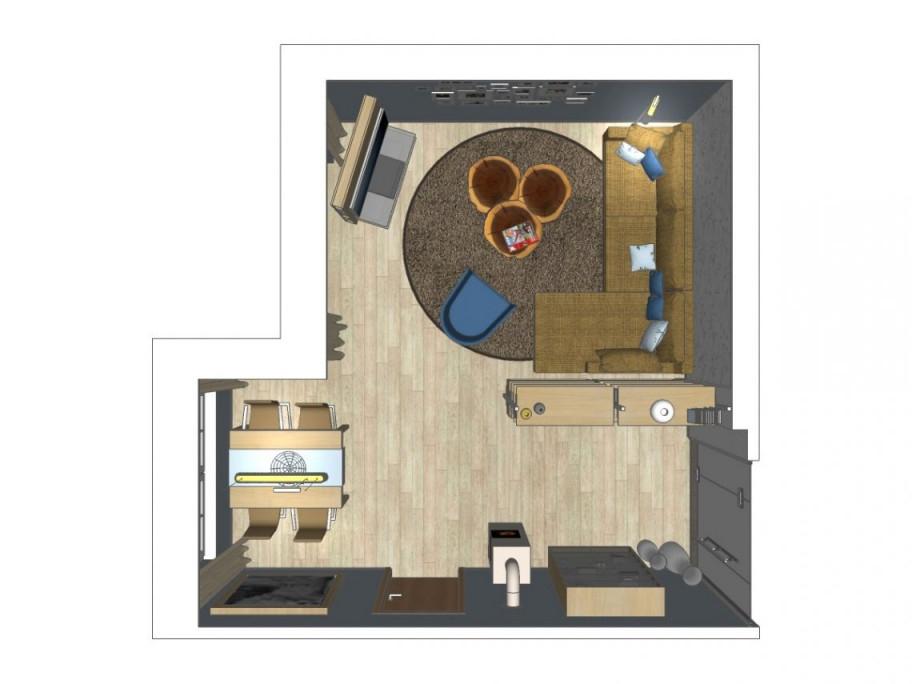 Inspirierend Wohnzimmer L Form  Wohnzimmer Gestalten von L Förmiges Wohnzimmer Einrichten Bild
