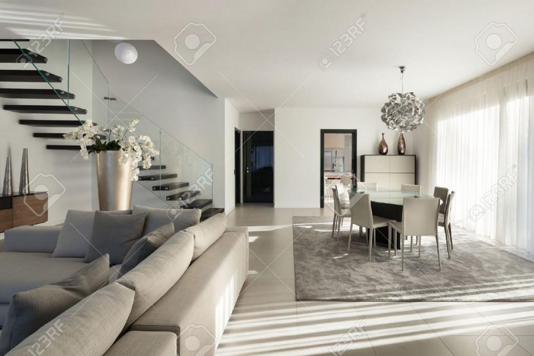 Inter Einer Modernen Wohnung Gemütliches Wohnzimmer von Gemütliches Wohnzimmer Bilder Photo