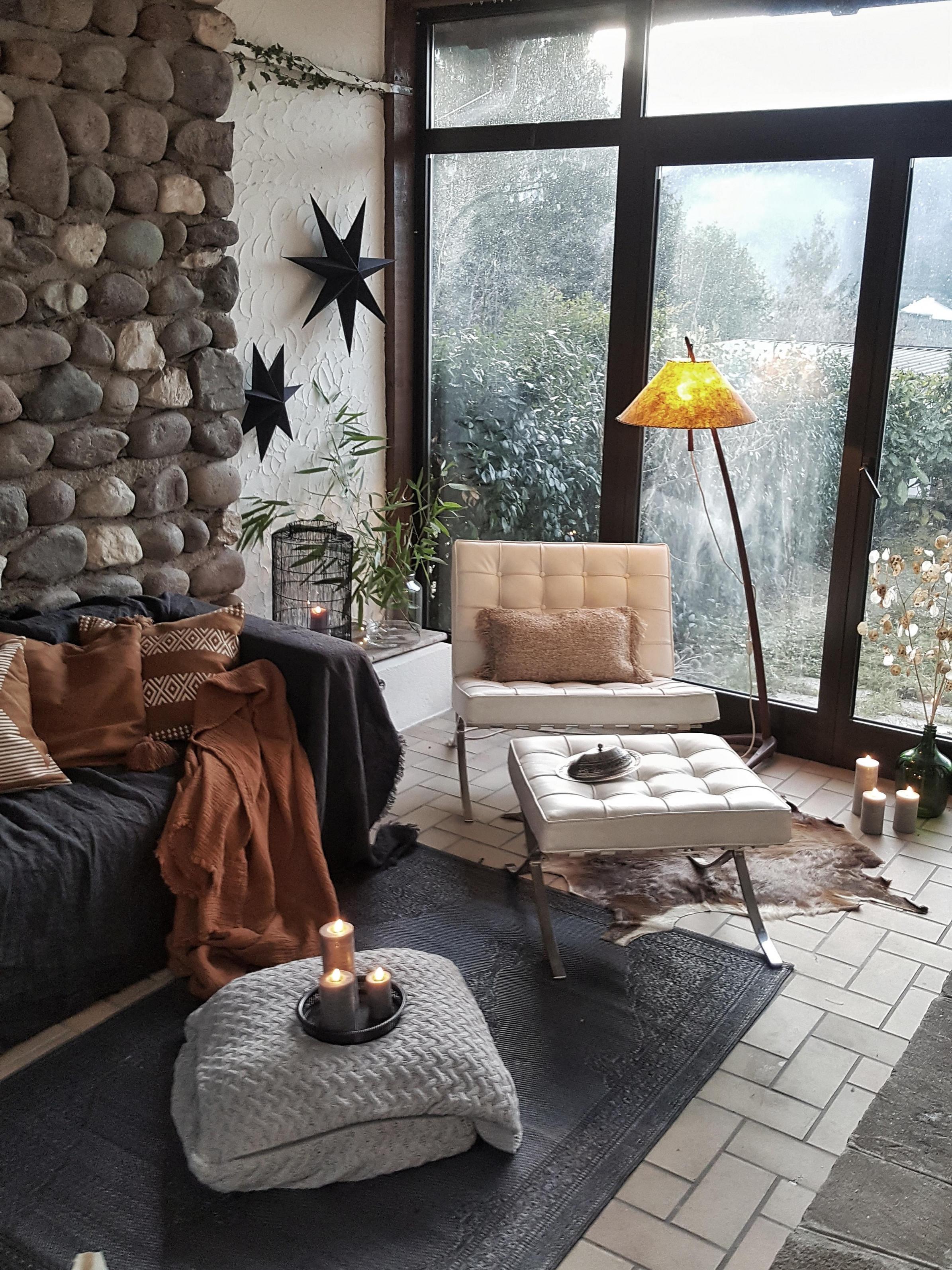 Interior Steinwand Wohnzimmer Deko Vintage Ret von Vintage Deko Wohnzimmer Bild