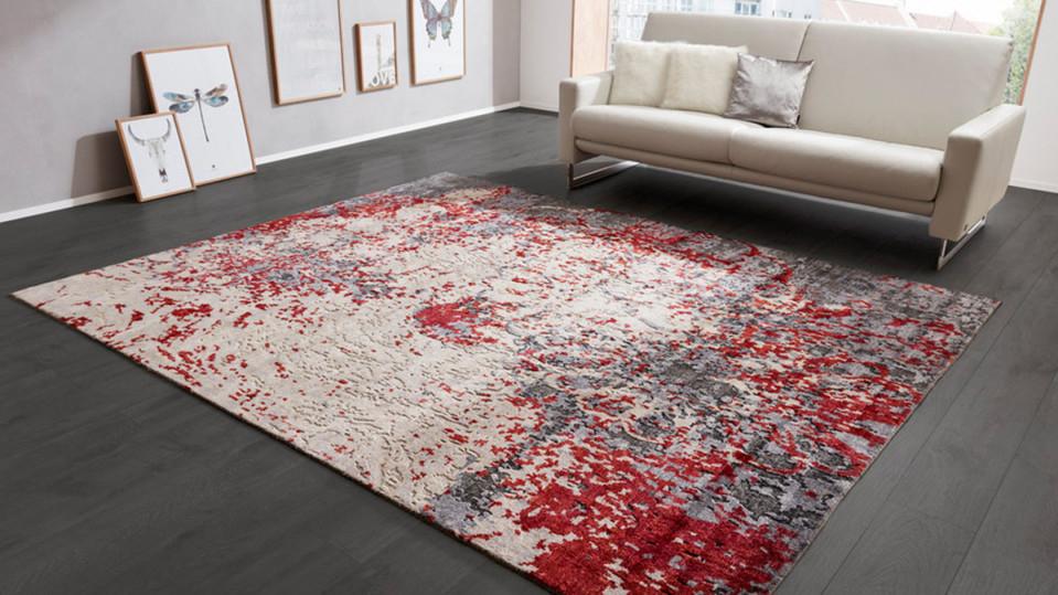 Interliving Teppich Serie E8320 Rotgrau Gemustert – Ca 200 X 300 Cm von Teppich Wohnzimmer 200X300 Bild