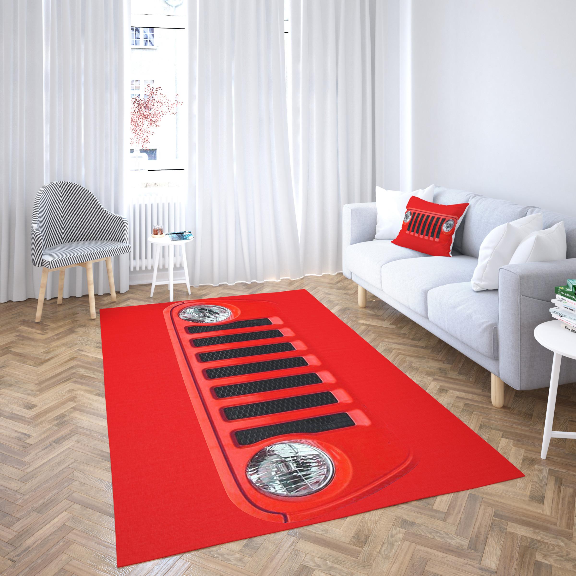 Jeep Roter Vorleger Von Hoher Qualitt Wohnzimmer Teppich von Roter Teppich Wohnzimmer Photo