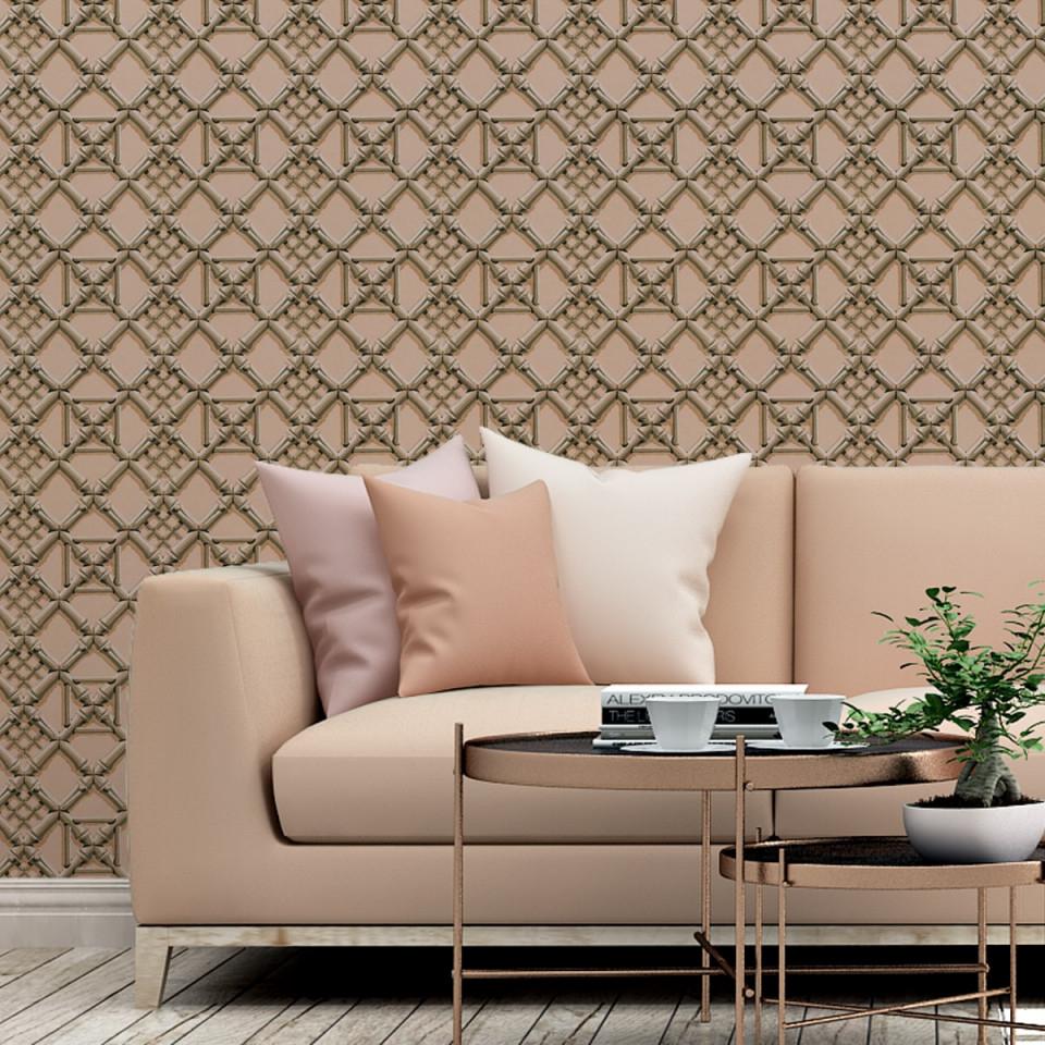 """Klassische Tapete """"bambusgitter"""" Rosa Historische Vliestapete Für  Wohnzimmer von Tapeten Fürs Wohnzimmer Photo"""