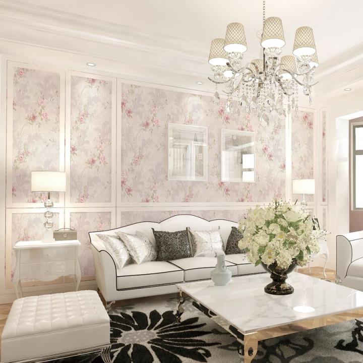 Klassische Wohnzimmer Vintage Blumentapete Rosa Blume von Tapeten Wohnzimmer Vintage Bild