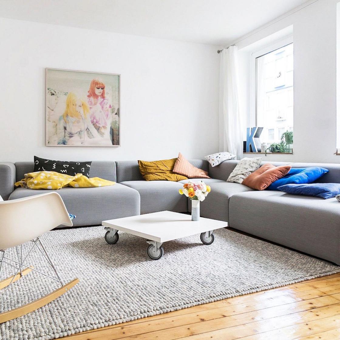 Kleine Wohnzimmer Einrichten  Gestalten von Wohnzimmer Hell Einrichten Bild