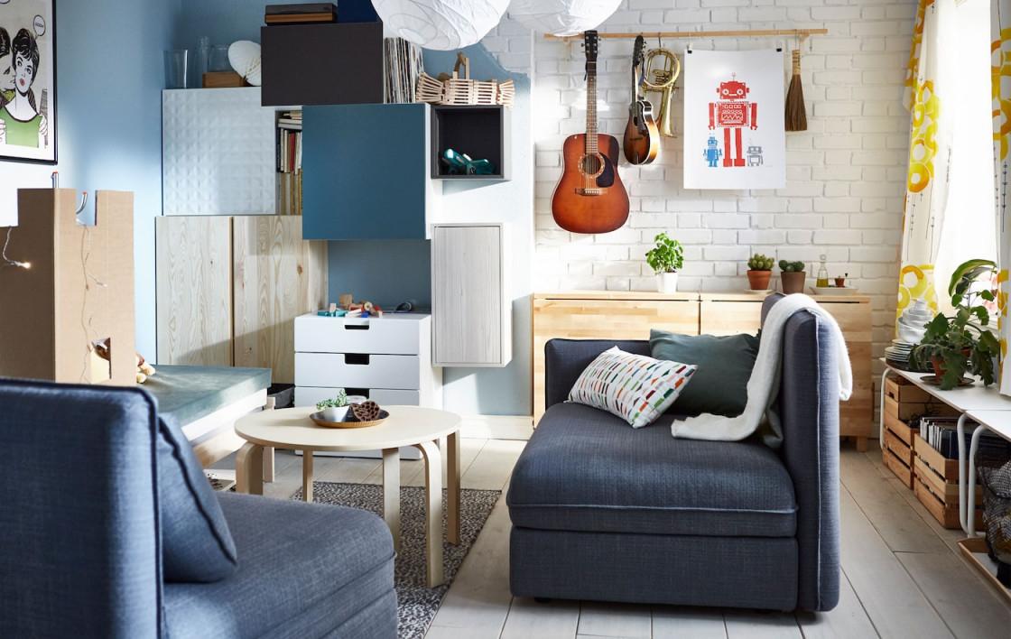 Kleine Wohnzimmer Einrichten Teil 2  Ikea Deutschland von Kleines Wohnzimmer Mit Küche Einrichten Bild