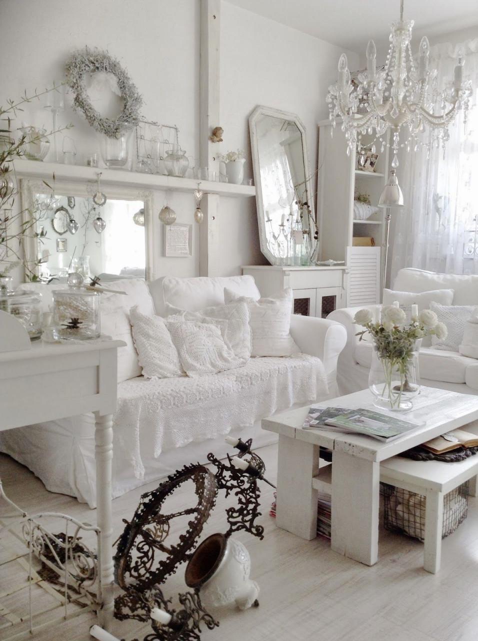 Kleiner Einblick In Unser Wohnzimmer  Chic Wohnzimmer von Shabby Chic Wohnzimmer Bilder Bild